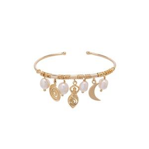 Bracelete Balangandãs Dourado   Coleção Guta Virtu... - SANTONINA JOIAS