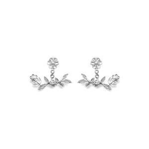 Brinco Ear Jacket Em Prata 925 Oxidada - Bouquet  ... - SANTONINA JOIAS