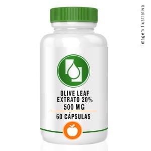 Olive Leaf Extrato 20% 500mg 60cápsulas