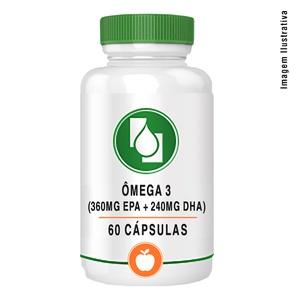 Ômega 3 (360mg EPA + 240mg DHA) 60cápsulas