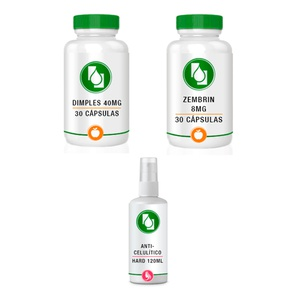 Kit Dimples 40mg + Zembrin 8mg - Spray Anti-Celulite de Brinde 120ml