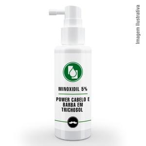 Minoxidil 5% Power Cabelo e Barba em Trichosol ™ 120ml