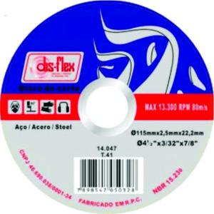 Disco Corte Inox 230mm Extra Fino 9 Pol. Dis-Flex 230 X 2 X 22,2mm