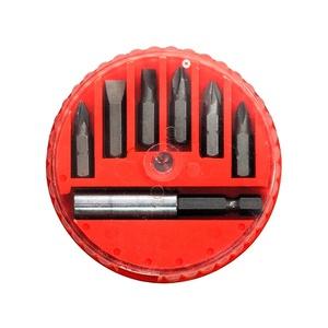 Jogo de Bits e Adaptador Magnetico MTX 113929 Aço 45x 7Peças em caixa plástica
