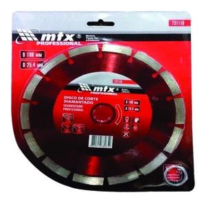 DISCO DE CORTE MTX DIAMANTADO SEGMENTADO 731119 180 X 25,4 MM CORTE SECO