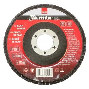 Disco Lixa Flap 4.1/2 115x22mm Grão 120 Mtx
