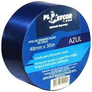 Fita de Demarcação PVC Azul 48mm x 30m PLASTCOR - Só Aqui Ferramentas