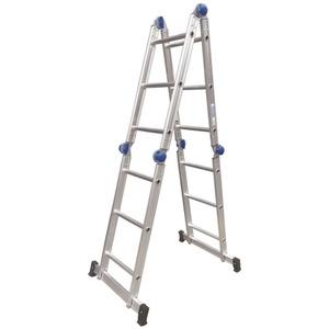 Escada Articulada 3x4 com 12 Degraus de Aluminio -... - Só Aqui Ferramentas
