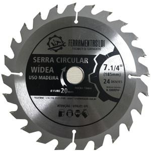 Disco Serra Circular 7.1/4 Pol. 185mm 24 Dentes Madeira Profissional Ldi