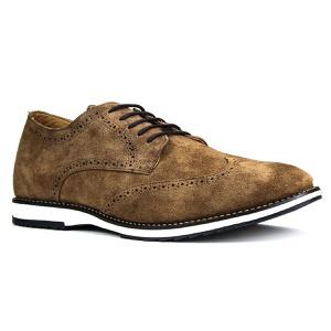 Sapato Brogue Couro Confort Tchwm Shoes Camurça - ... - TCHWM SHOES