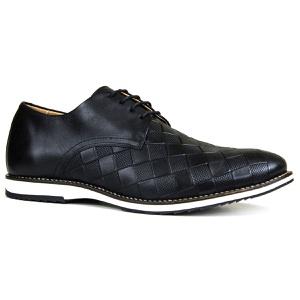 Sapato Brogue Couro Confort Tchwm Shoes Preto - 80... - TCHWM SHOES