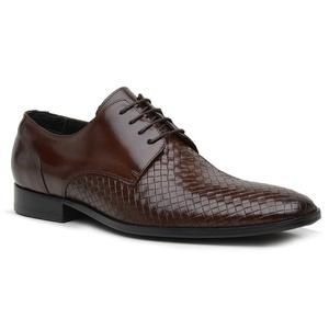 Sapato Social Tressê Premium em Couro Mouro - 3220... - TCHWM SHOES