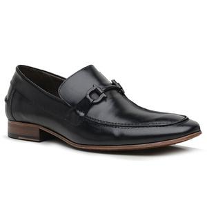 Sapato Loafer Casual Premium em Couro Preto - 2453... - TCHWM SHOES