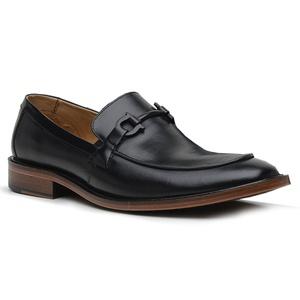 Sapato Loafer Casual Premium em Couro Preto - 588... - TCHWM SHOES