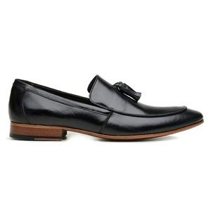 Sapato Loafer Bambolim Premium em Couro Preto - 58... - TCHWM SHOES