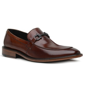 Sapato Loafer Casual Premium em Couro Marrom - 588... - TCHWM SHOES