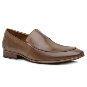 Sapato Loafer Casual Premium em Couro Castanho - 5... - TCHWM SHOES