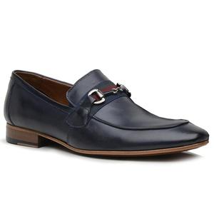 Sapato Loafer Casual Premium em Couro Marinho - 58... - TCHWM SHOES