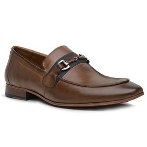 Sapato Loafer Casual Premium em Couro Caramelo - 5... - TCHWM SHOES