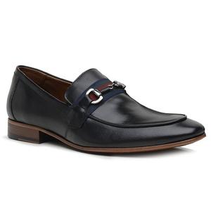 Sapato Loafer Casual Premium em Couro Preto - 5885... - TCHWM SHOES