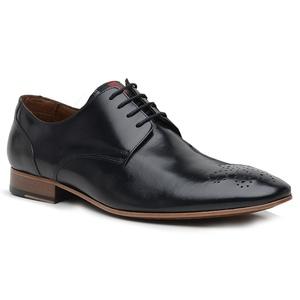 Sapato Social Premium Furos em Couro Preto - 6006... - TCHWM SHOES