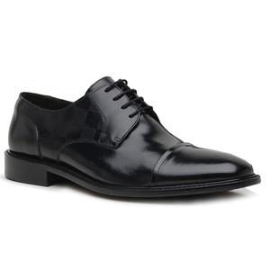 Sapato Social Xadrez Premium em Couro Preto - 604... - TCHWM SHOES