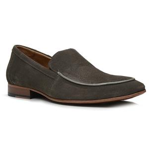 Sapato Loafer Casual Premium em Couro Camurça Cinz... - TCHWM SHOES