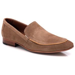 Sapato Loafer Casual Premium em Couro Camurça Nude... - TCHWM SHOES