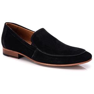 Sapato Loafer Casual Premium em Couro Camurça Pret... - TCHWM SHOES