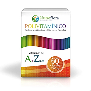 Polivitamínico 1000mg 60cápsulas Nutreflora