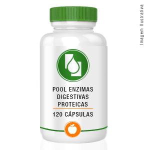 Pool Enzimas Digestivas Protéicas120 cápsulas