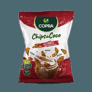 CHIPS DE COCO COPRA SABOR CANELA 60G