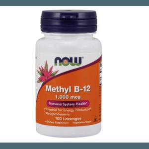 VITAMINA B12 - 1MG - METHYLCOBALAMIN - 100 PASTILHAS SUBLINGUAL