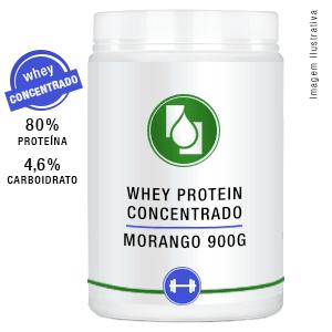 Whey Protein Concentrado 80% Morango 900g