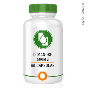 D Manose 500mg 60 cápsulas