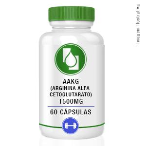 AAKG (Arginina Alfa Cetoglutarato) 1500mg 60 cápsulas