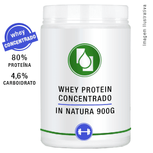 Whey Protein Concentrado 80% Puro 900g