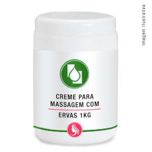 Creme p/massagem c/ervas 1kg