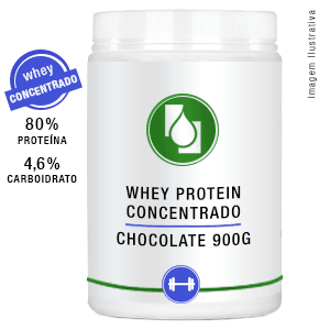 Whey Protein Concentrado 80% Chocolate 900g