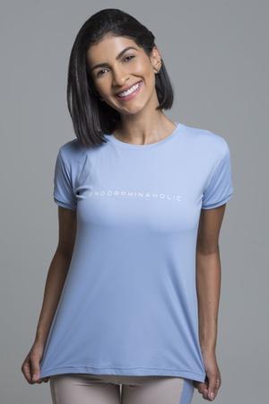 Camiseta Feminina Funfit - Endorphinaholic azul bb... - FUNFIT