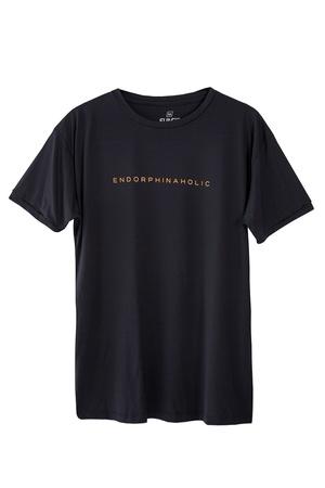 Camiseta Masculina Funfit - Endorphinaholic Preta ... - FUNFIT