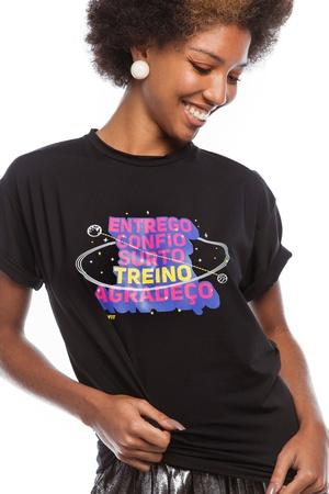 Camiseta Feminina Funfit - Entrego, Confio, Surto,... - FUNFIT