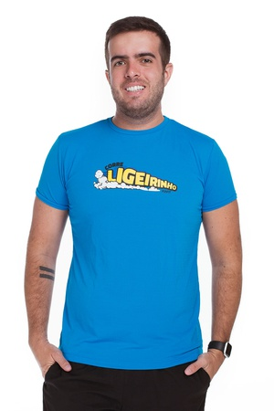 Camiseta Masculina Funfit - Ligeirinho Azul - 1837 - FUNFIT