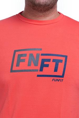 Camiseta Masculina Funfit - FNFT Laranja Crepe - 1... - FUNFIT