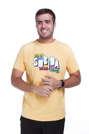Camiseta Masculina Funfit - Não Há Subida Que Não ... - FUNFIT