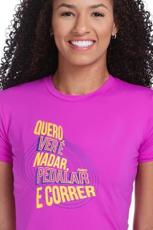 Camiseta Feminina Funfit - Quero Ver Rosa - 2006 - FUNFIT