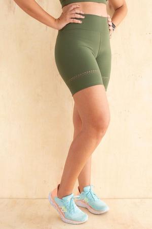 Short Feminino Funfit - Lia verde militar - 3023 - FUNFIT
