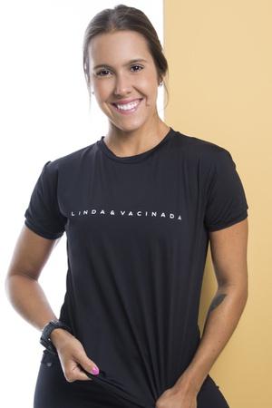 Camiseta Feminina Funfit - Linda e Vacinada - 3085 - FUNFIT