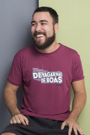 Camiseta Masculina Funfit - Devagar Não De Boas - ... - FUNFIT