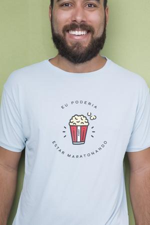 Camiseta Masculina Funfit - Eu Poderia Estar Marat... - FUNFIT